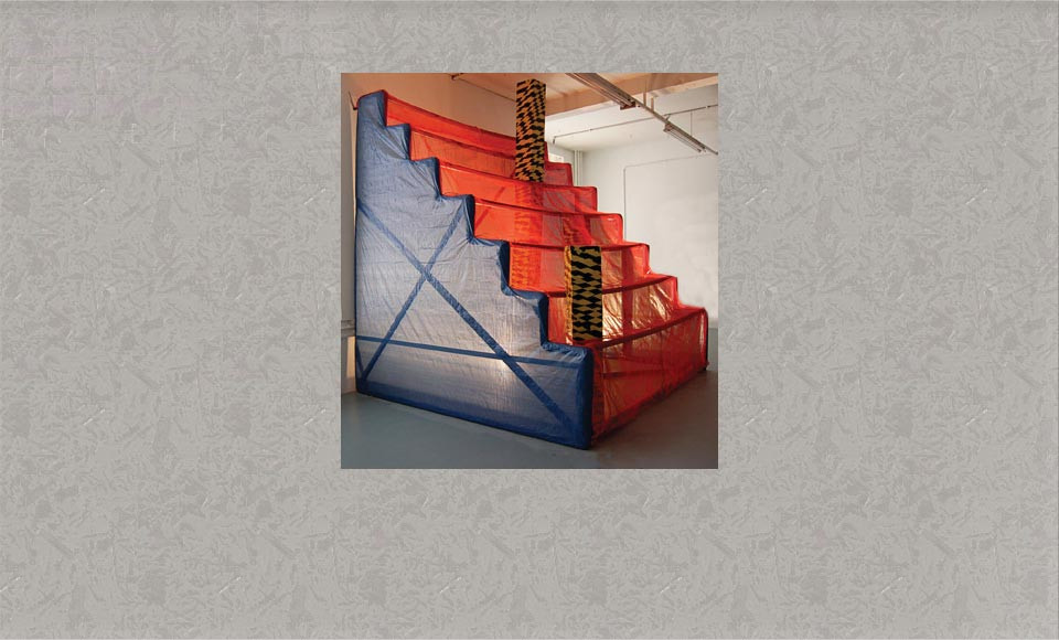 Red Steps, sculpture by Rebecca Dick