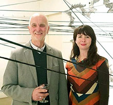 William Dick and Rebecca Dick at Double Vision Opening