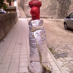 Untitled Photograph -Wrapped Hydrant
